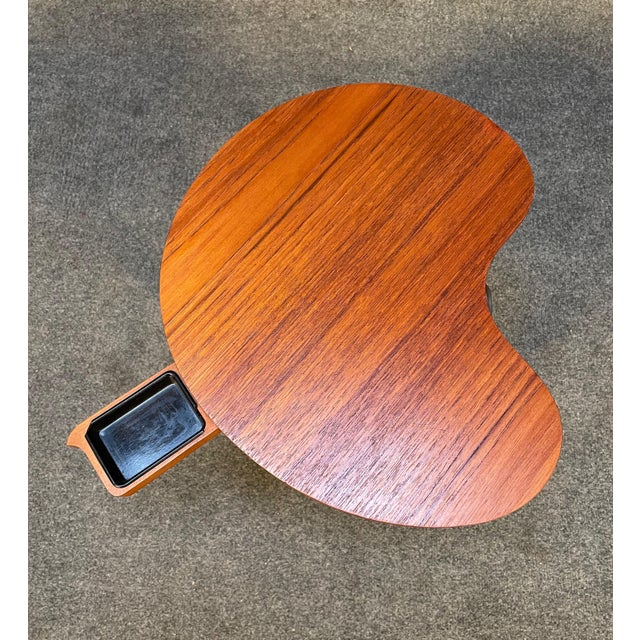 """Here is a beautiful scandinavian """"Gorm"""" side table in teak and oak designed by Edmund Jørgensen and manufactured by Gorm..."""