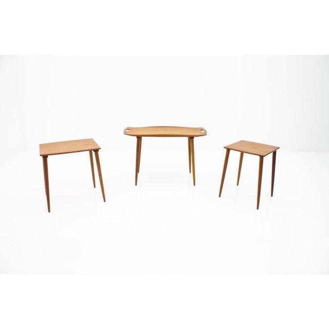 Jens Quistgaard Jens Quistgaard Nesting Tables in Teak Wood, Denmark, 1960s For Sale - Image 4 of 9