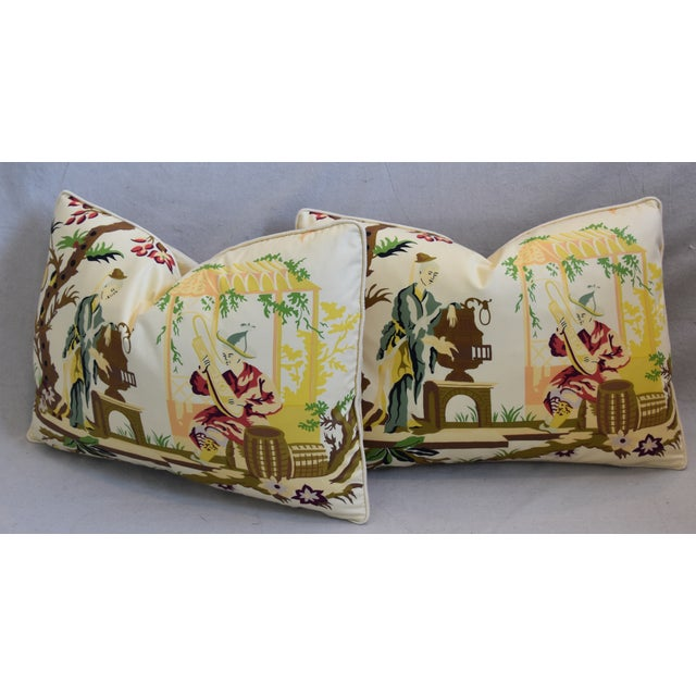 """Brunschwig Fils & Scalamandre Velvet Feather/Down Pillows 23"""" X 17"""" - Pair For Sale - Image 9 of 13"""