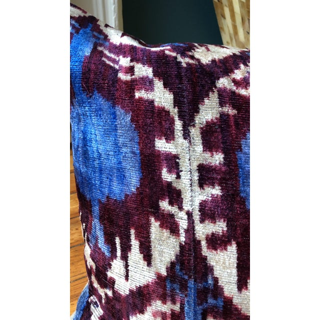 Boho Chic Purple and Teal Pillows - a Pair For Sale - Image 4 of 6