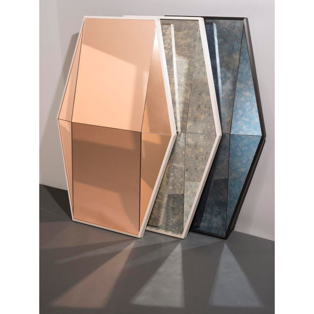Contemporary Contemporary Gem Mirror Peach For Sale - Image 3 of 5