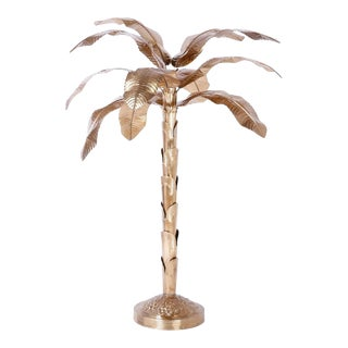 Midcentury Brass Palm or Banana Tree For Sale