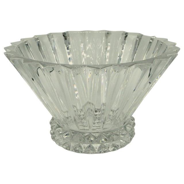 German Brutalist Crystal Centerpiece Fruit Bowl For Sale - Image 10 of 10
