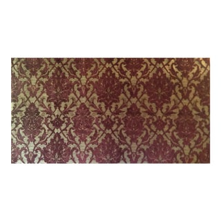 Jacobean Upholstery Fabric in Chenille Damask Pattern For Sale