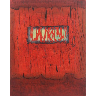 'The Rain, Abstract in Ruby and Jade' After Hiroyuki Tajima, 1973, Tokyo, Los Angeles County Museum of Art, Benezit For Sale