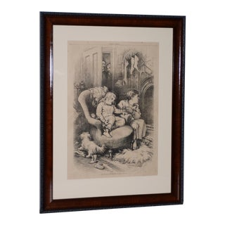 """1880s """"The Watch on Christmas Eve"""" Illustration by Thomas Nast for Harper's Weekly For Sale"""