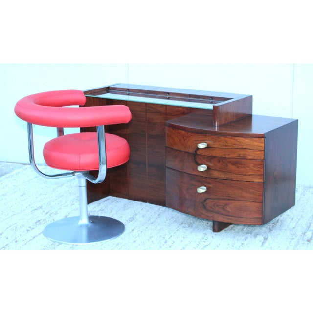 Gilbert Rohde Gilbert Rohde for Herman Miller Rosewood Vanity For Sale - Image 4 of 13
