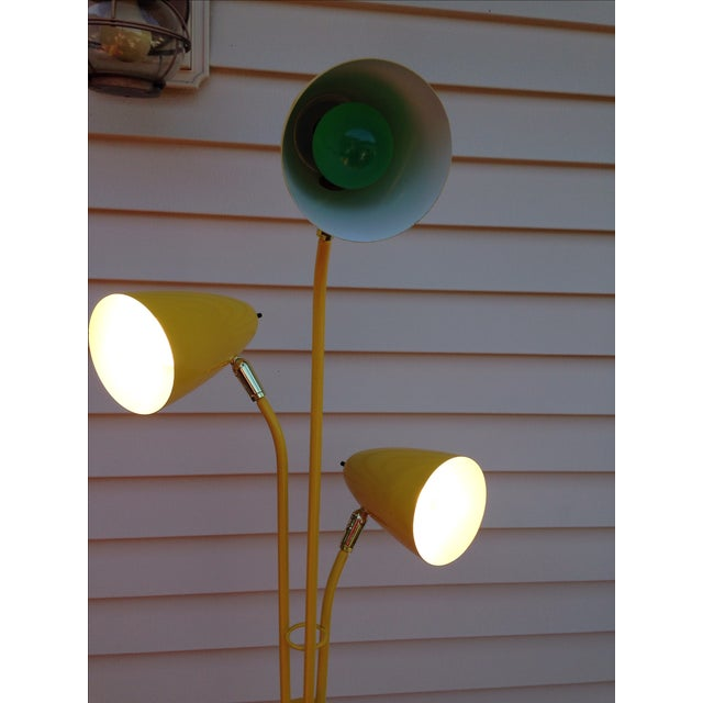 Yellow Mid Century Modern Bullet Floor Lamp - Image 5 of 11