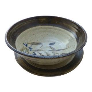 Studio Art Pottery Centerpiece Bowl & Platter For Sale