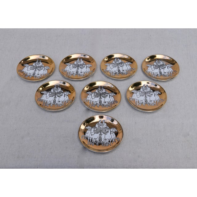 Fornasetti Roman Charriot Demi Plates For Sale In Philadelphia - Image 6 of 6