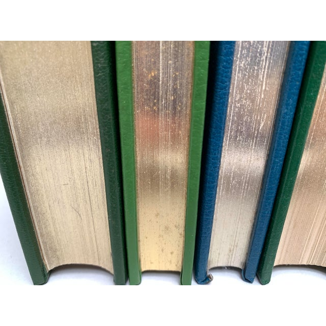Metal Easton Press Vintage Leatherbound Books, Blue and Green - Set of 5 For Sale - Image 7 of 13