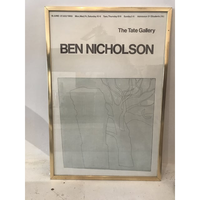 Contemporary 1970s Vintage Ben Nicholson the Tate Gallery Framed Print For Sale - Image 3 of 3