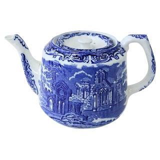 Antique George Jones Flow Blue Teapot