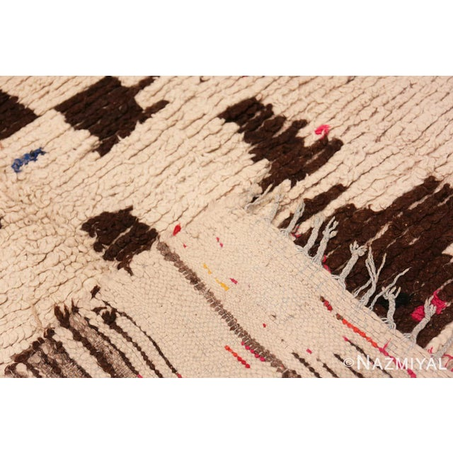Textile Vintage Mid-Century Modern Moroccan Rug - 4′ × 9′ For Sale - Image 7 of 9