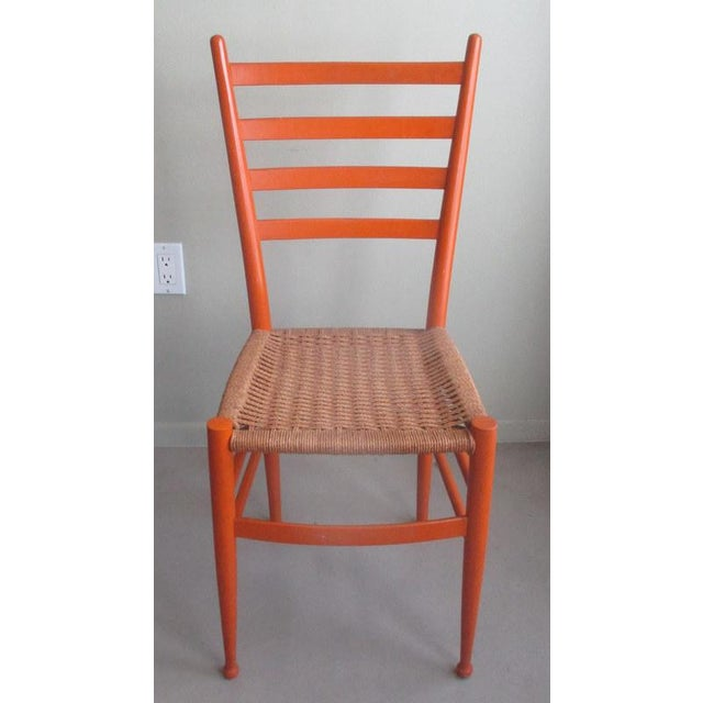 Textile Mid-Century Modern Gio Ponti Style Side Chair For Sale - Image 7 of 7