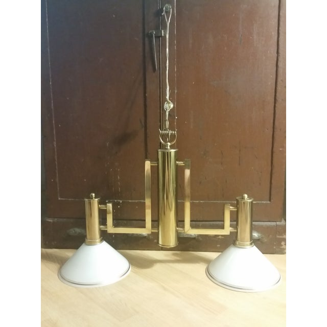 Brass Billiards Table Hanging Lights