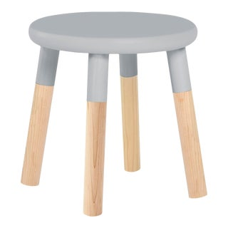 Peewee Kids Chair in Maple With Gray Finish For Sale