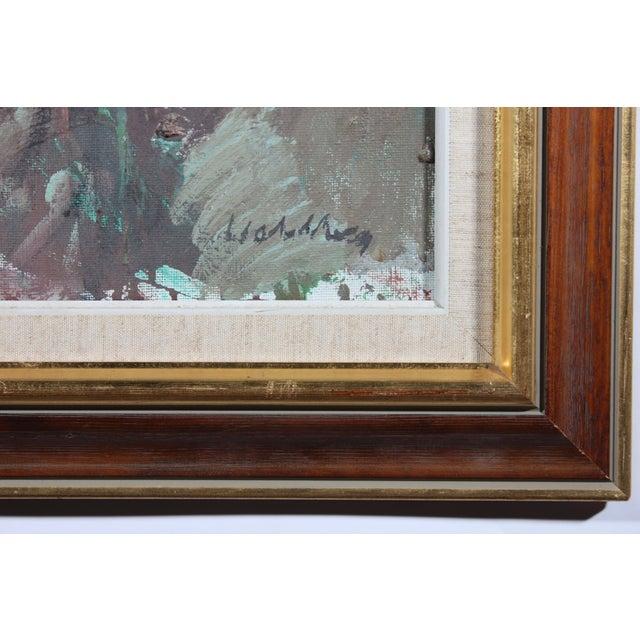 """Bertil Wahlberg """"Siblings"""" Oil on Canvas Painting - Image 3 of 3"""