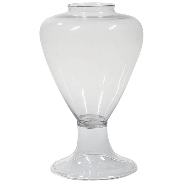 Lovely Large 19th Century Blown Glass Apothecary Jar Vase Decaso