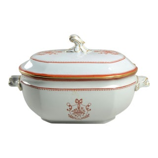 Spode Newburyport Red (Gold Trim) Tureen & Lid For Sale