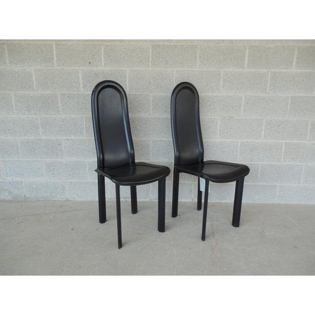 Vintage Artedi Italian Leather Chairs - A Pair - Image 3 of 7
