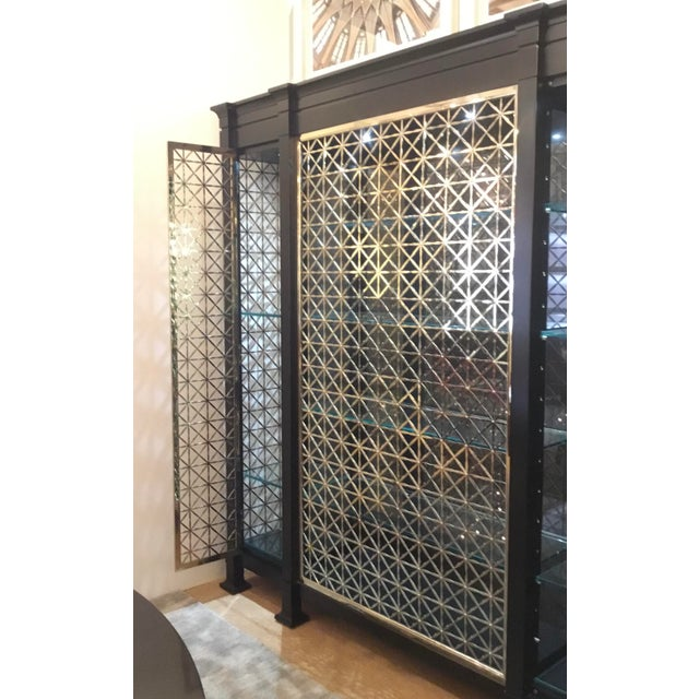 Metal Caracole Modern Black and Gold Display Cabinet For Sale - Image 7 of 10