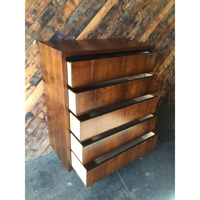 1970s Lane Walnut Highboy - Image 6 of 6