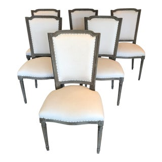 Aiden Gray Upholstered Dining Chairs - Set of 6