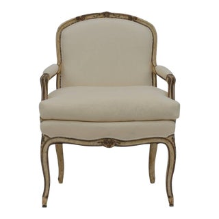 Exceptional Late 19th Century Louis XV Style Armchair For Sale