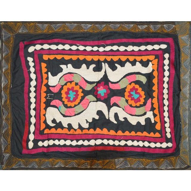 Vintage Turkish Uzbeki Suzani Textile - 2'7″ X 3'5″ For Sale - Image 4 of 4
