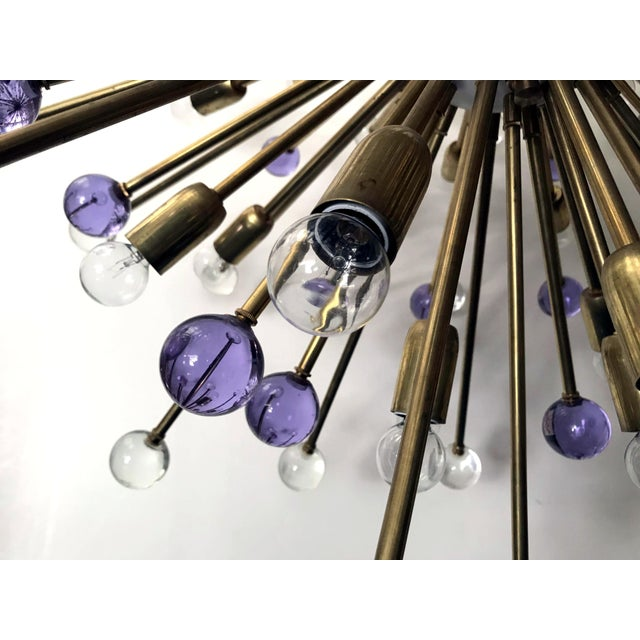 Clear and Purple Burst Sputniks by Fabio Ltd ( 2 Available) For Sale In Palm Springs - Image 6 of 10