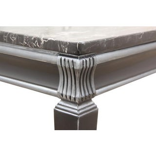 1960's Neoclassical Style Black Marble Side Table Preview