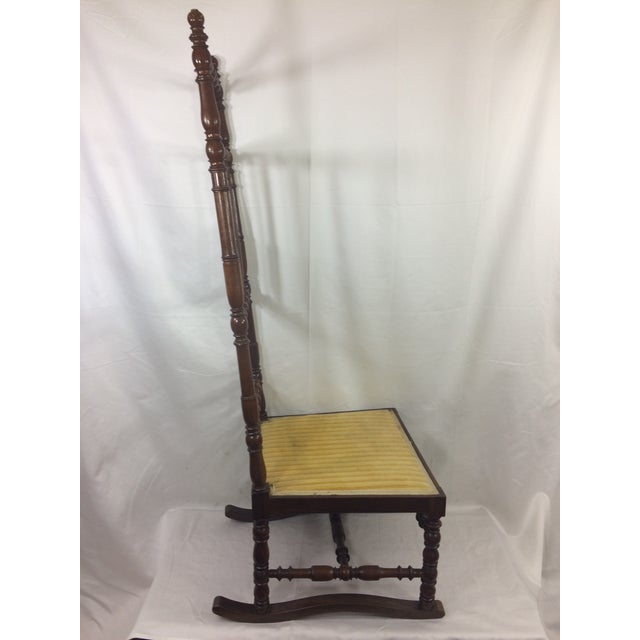 Wood Napoleon III High Back Spindle Chair For Sale - Image 7 of 8