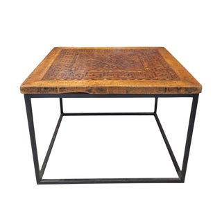 Inlaid Wood Square Coffee Table