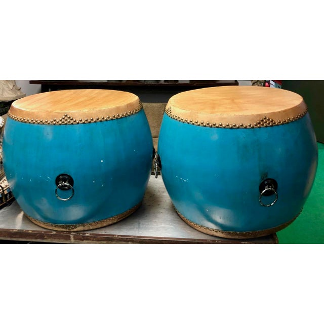 These Chinese drums were bought at a specialty Asian imports store, and can be featured outside under a trellis. They were...