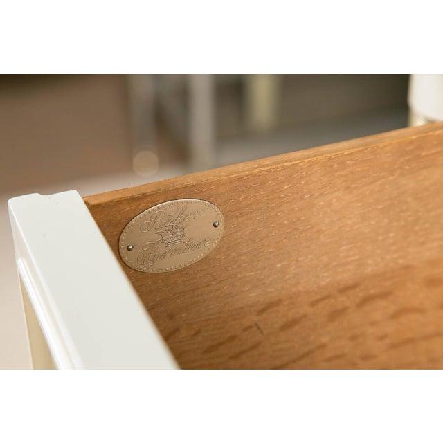 Baker Furniture White Lacquered Nine-Drawer - Image 5 of 6