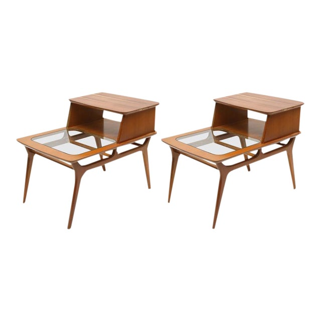 Heywood-Wakefield Two-Tiered Side Tables, 1960s, Usa For Sale
