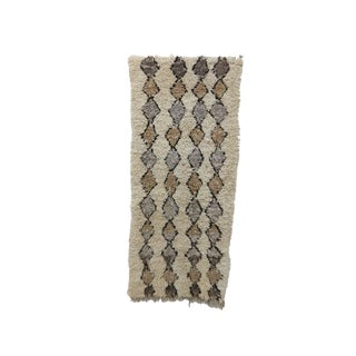 1980s Moroccan Azilal Rug - 2′11″ × 6′7″ For Sale