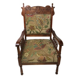 Antique Eastlake Leaf Carving Chair For Sale