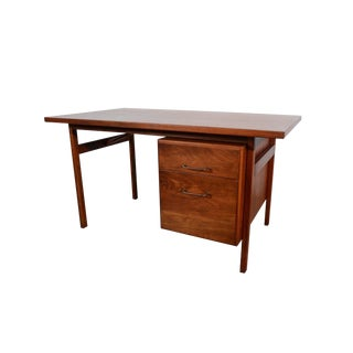 Jens Risom Walnut Desk For Sale
