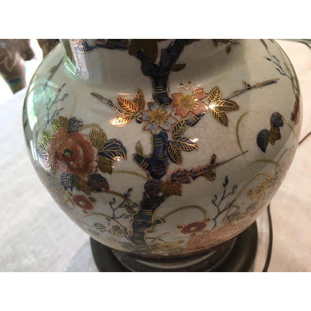 Asian Floral Table Lamp For Sale - Image 10 of 10