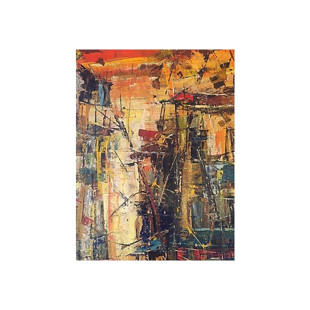 Mid-Century French Street Front Abstract - Image 7 of 7