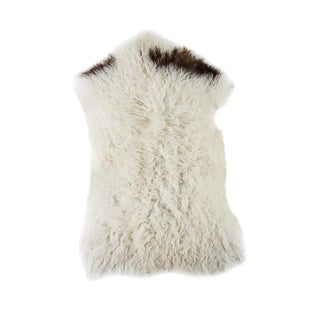 "Contemporary Long Wool Sheepskin Pelt/Handmade Rug 2'0""x3'0"" For Sale"