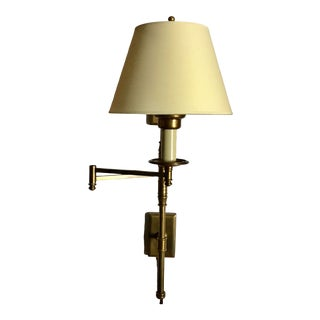 Brass Swing Arm Task Wall Sconce by Chapman & Meyers for Visual Comfort For Sale