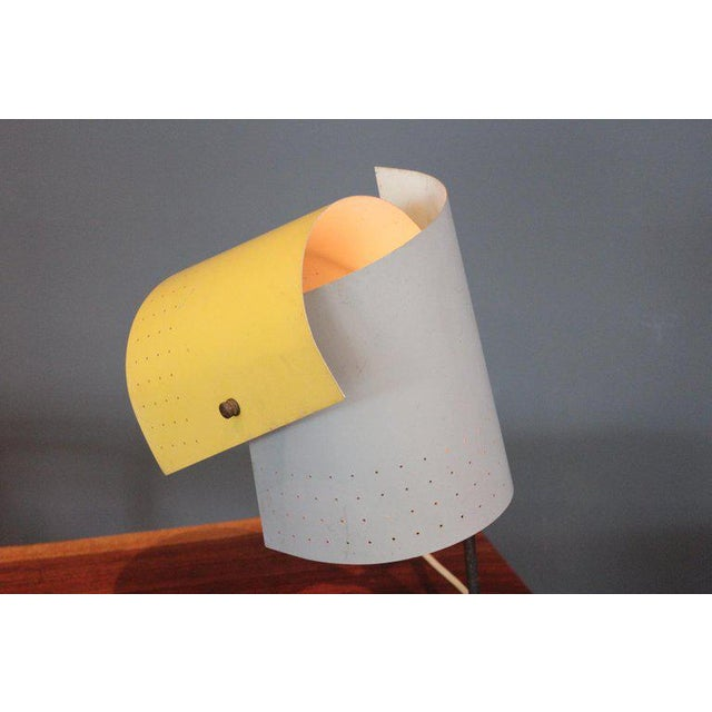 Yellow Lester Geis T-5-G Lamp for Heifetz, 1951 For Sale - Image 8 of 11