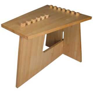 Studio Puzzle Table in Oak For Sale
