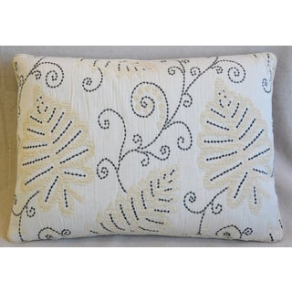 "Scalamandre Embroidered Fern Wood Feather/Down Pillow 22"" X 16"" Preview"