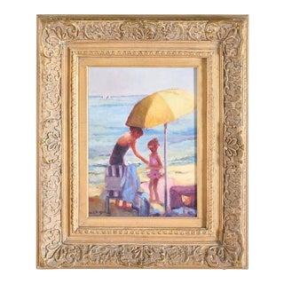Gilt Wood Framed Oil / Canvas Painting For Sale