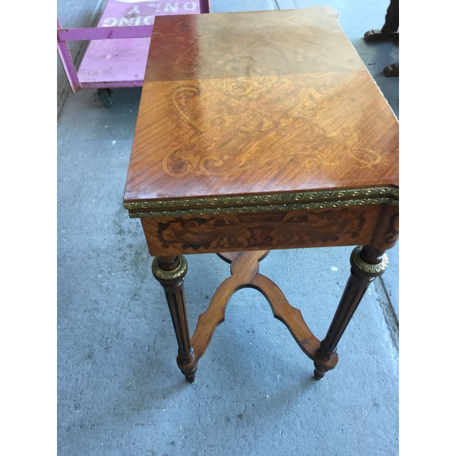 Louis XV Louis XV Style Flip Top Game Table For Sale - Image 3 of 11