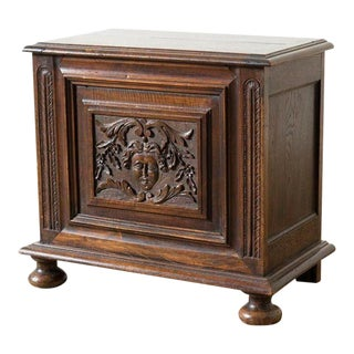 1875 English Traditional Oak Chest For Sale